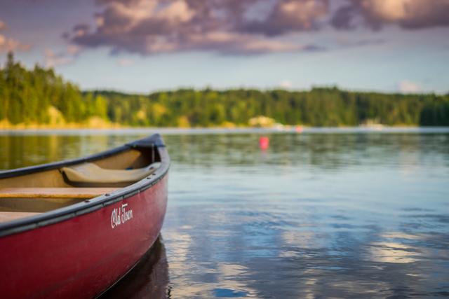 Bild Boot im Fluss